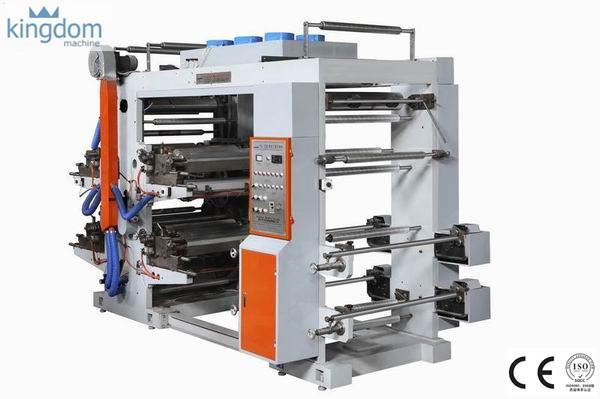 Máquina impresora flexográfica de 4 colores