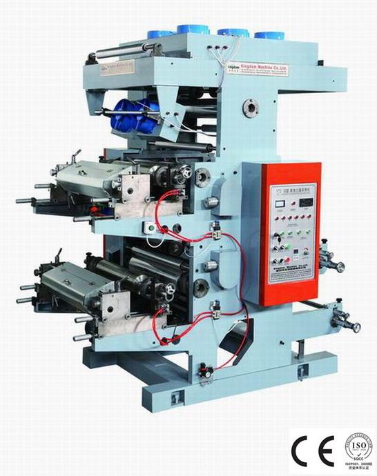 Máquina impresora flexográfica de doble color